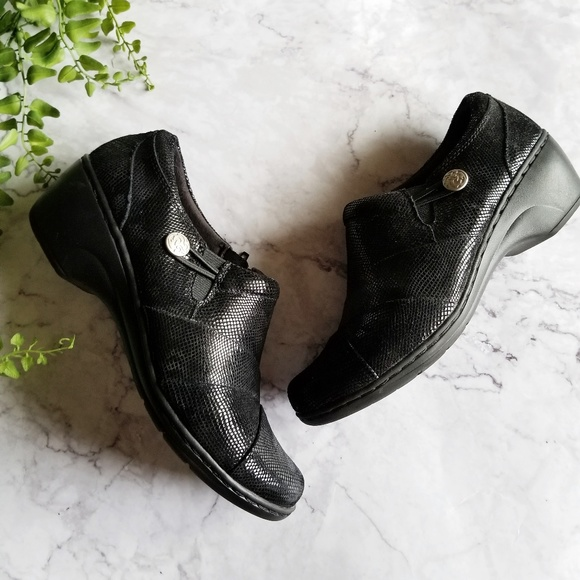 Clarks Shoes - Clarks | Channing Ann Black Slip-On Clog Loafers